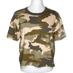 Madewell Easy Crop Tee in Cottontail Camo